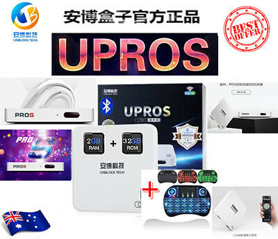 安博盒子七代 NEW UNBLOCK TECH TV BOX UPROS UBOX 32GB Android 4K TV Box GEN 7 AU 2019