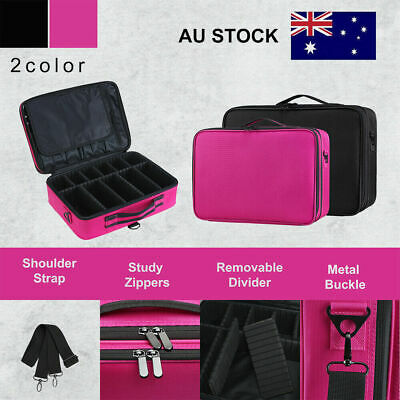 Professional Makeup Bag Portable Cosmetic Case Travel Carry Storage Box