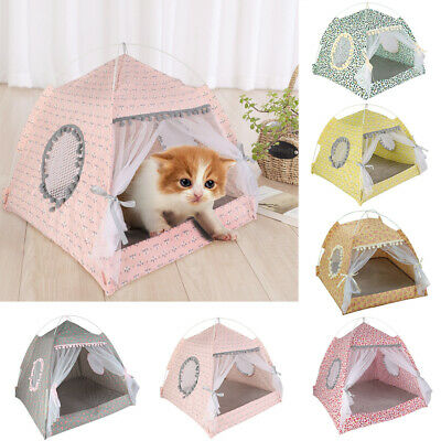Foldable Pet Cat Dog Puppy Cave Sleeping Bed Mat Pad Nest Kennel Tent