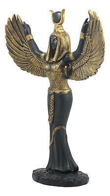 """Ancient Egyptian Goddess Isis Figurine With Open Wings 12"""" Sculpture Statue Gift"""