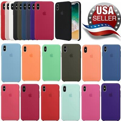 For Apple iPhone X XR XS MAX 8 7 6 6s plus Genuine OEM Soft Silicone Case Cover