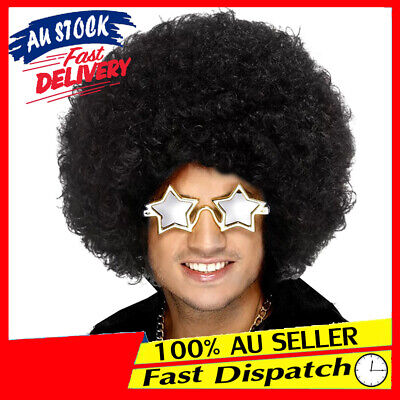 Black World Costume Curly Party Fancy Dress Cup Wig Cosplay Afro
