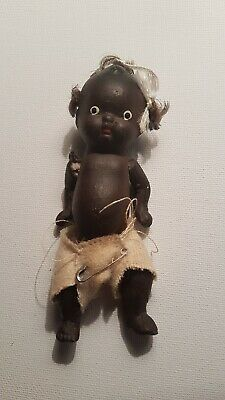 Vintage Japan black Bisque dolls with strung arms and legs marked from 1930's