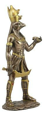 "Ancient Egyptian God Horus Figurine 12"" Collectable Sculpture Decor Gift Statue"