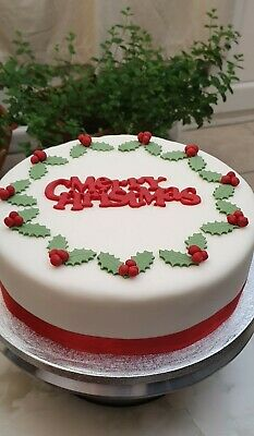 Merry Christmas. 8inch Round Jamaican Rum Fruit Cake (blended fruits)