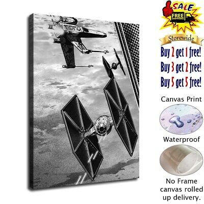 star wars fighters poster HD Canvas prints Home Decor Wall art picture 12X16inch