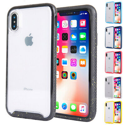 Shockproof Clear Case Armor Acrylic Hard Cover For iPhone XS Max XR X 8 6 7 Plus