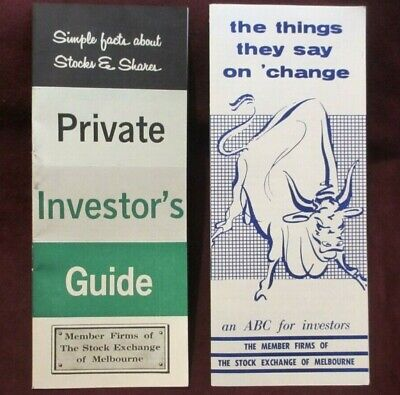 1964 Private Investor's Guide And Circa 1960's An ABC For Investors Brochure The