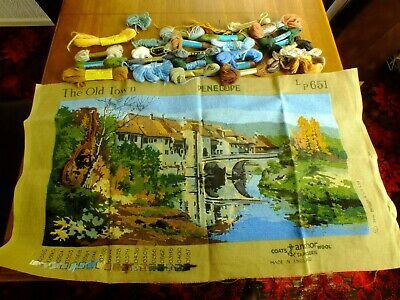 Vintage Penelope The Old Town Woollen Tapestry Kit