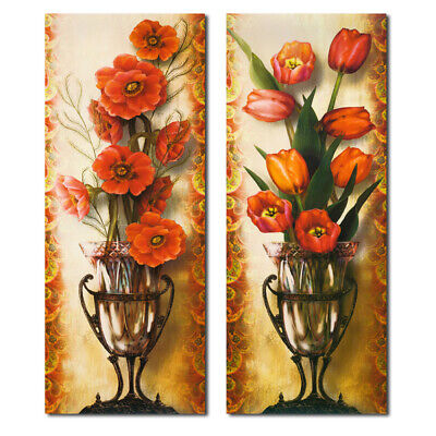 Flower Wall Painting Canvas Unframed Art Print Picture Home Porch Corridor ZDH