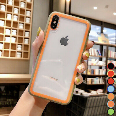 For iPhone Xs Max XR 7 8 Plus Shockproof Hybrid Tempered Glass Back Case Cover
