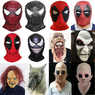 Halloween Festival Latex Full Head Superhero Masks Fancy Dress Cosplay Costume