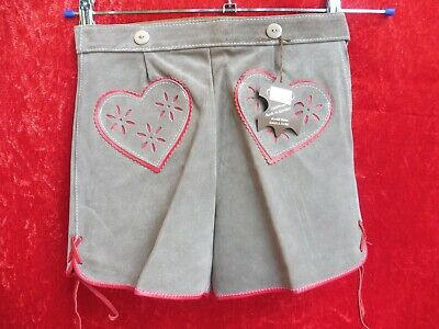 High Quality Leather Pants, Size 128, Made in Germany, Shorts, Hearts