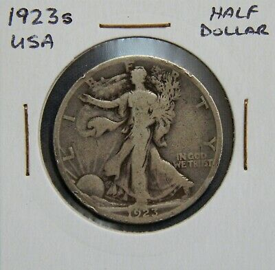 1923S USA America Walking Liberty Half Dollar Coin 90% Silver