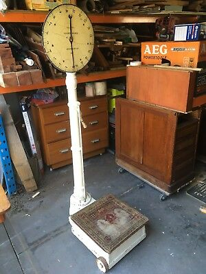 Antique Cast Iron Doctor's Weighing Scales - Early 1900's