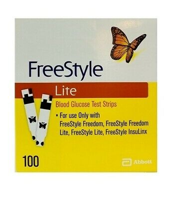 Abbott Freestyle LITE Blood Glucose Test Strips (100 Tests)