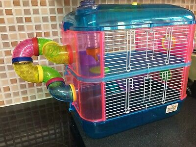 2 Tier  Hamster Cage Plus Collapsible Run