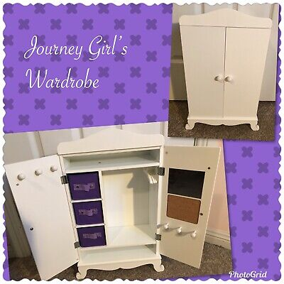 Journey Girls Doll Wooden Wardrobe * EUC * Also suits Our Generation Dolls!