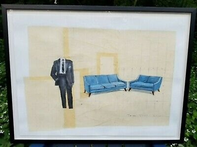 """No Reserve / Framed Painting By Tom Judd / """"Couches"""" (2013) / 22"""" X 30"""" / Superb"""