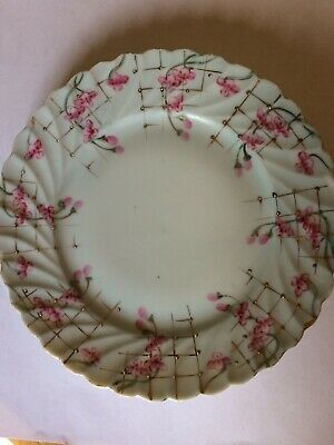 Nippon Hand Painted Pink Blossoms & Gold Gilt Dinner Plate Circa 1891 - 1921
