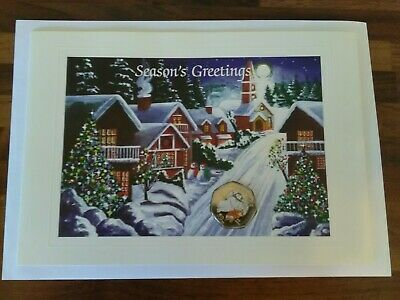 2003 Isle of Man Christmas 50p The Snowman And James in Christmas Card COA