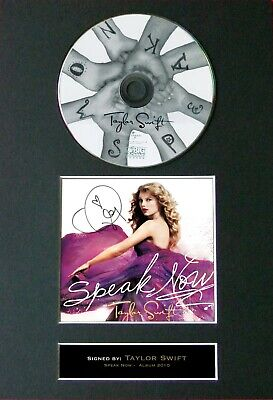 TAYLOR SWIFT Speak Now Mounted Signed Autograph CD Print A4 #22