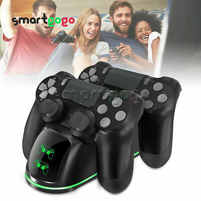 For PS4 Dual Controller Fast Charger Charging Stand Dualshock USB Port BSG