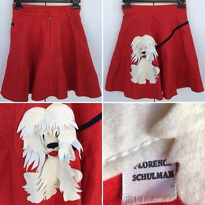 Vintage Florence Schulman Poodle Skirt Metal Zipper Style 6070 Girls Size 12