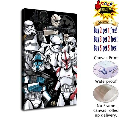 clone troopers poster HD Canvas prints Home Decor Wall art picture 12X18inch