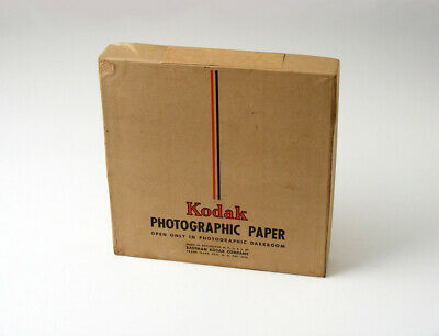"SEALED '40s Antique Kodak F-2 AZO 7"" x 7"" SW 144 Sheets ~ Vtg PHOTOGRAPHIC PAPER"
