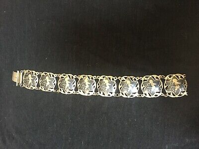 Antique Siam Nielloware silver bracelet