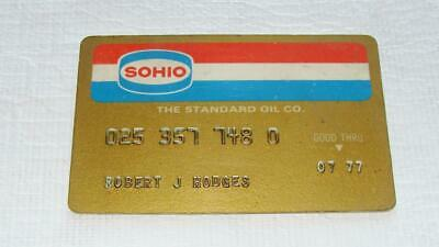 Vintage 1977 SOHIO The Standard Oil Co. Gas Credit Card Gold Card  Ohio