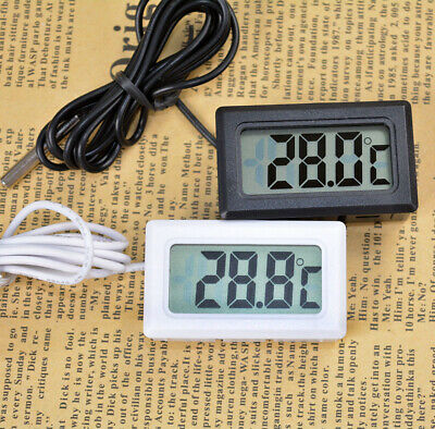 Digital LCD Fridge Freezer Thermograph Thermometer For Refrigerator -50 ~ 100℃