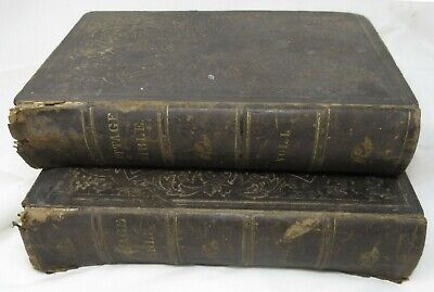 Antique Cottage Bible & Family Expositor,  2 Volumes Complete, 1852