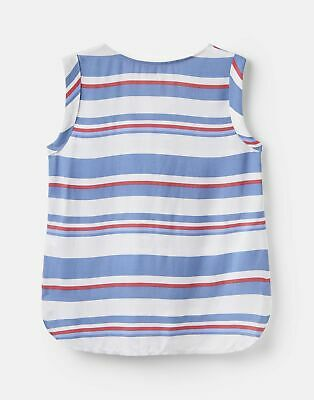 Joules  204541 Printed Capped Sleeve Shell Top 10 in  Size 10