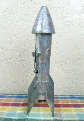 Vintage 1957 Berzac Mechanical Rocket Coin Bank by Astro Manufacturing
