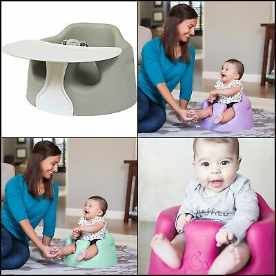 Bumbo Floor Seat Tray Portable Food Play Surface Kids Baby Safety Feeding Chairs