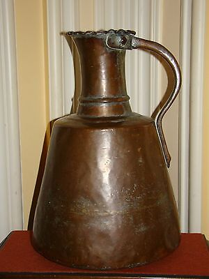 Antique Copper Handmade Persian/Arabic/Turkish/Islamic Water Pitcher