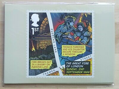 GB 2016 - The Great Fire of London, Set of Six PHQ Cards