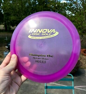 Innova champion ORC 175g Pearly Luster - ish disc golf pink/purple & gold stamp