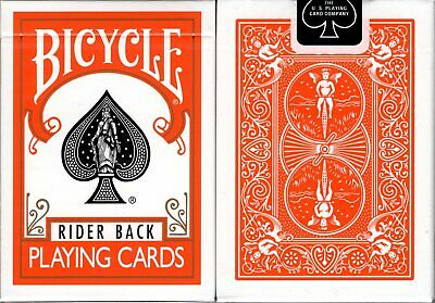 Orange Rider Back Bicycle Playing Cards Poker Size Deck USPCC Custom Limited New