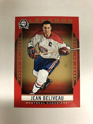 2018-19 OPC Coast To Coast Canadian Tire Jean Beliveau Legends Red Parallel #192