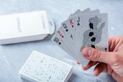 Circuit Playing Cards in Rainbow White from Elephant Playing Cards