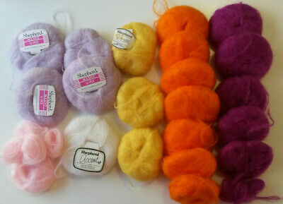 SHEPHERD ACCENT 12 ply yarn 78% mohair 13% wool 9% nylon, var. colours & weights