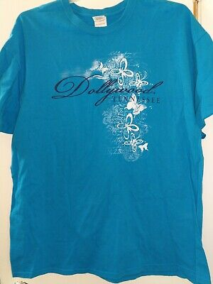 DOLLYWOOD T SHIRT Tennessee Dolly Parton Amusement Theme Park 2XL XXL Butterfly