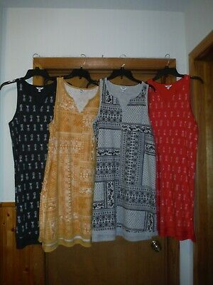 Sleeveless Summer Dresses XL,L,M,S,Sonoma Multi Color 60% cotton 40% polyester N