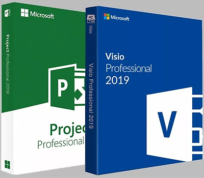 Ms Visio and Ms Project Professional 2019 1PC - Genuine Key