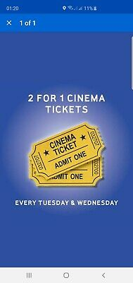 2 For 1 Cinema Ticket Code- Odeon, Vue, Cineworld, Showcase, Empire