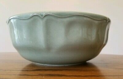 """Varages France Luberon Celadon Green 10"""" Embossed Bowl - Great Condition"""