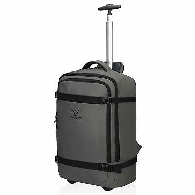 Hynes Eagle 42L Travel Rolling Backpack Flight Approved Carry on Wheeled Luggage